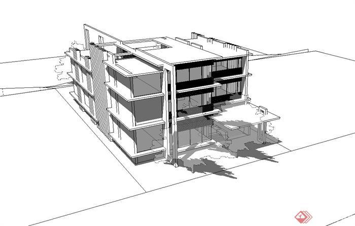 代小型办公楼设计