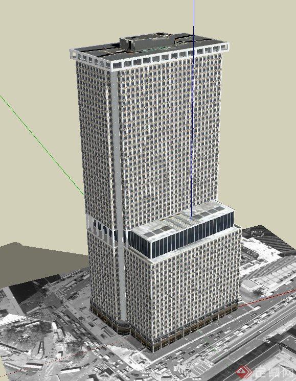 纽约广场酒店建筑设计su模型