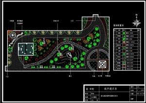 某大酒店屋顶花园景观绿化设计平面图图片
