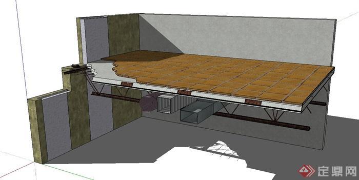 某楼层层板设计SU模型(1)