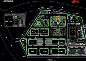某工业园景观规划总平图