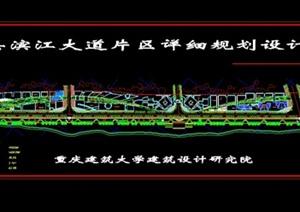 合江县滨江大道片区规划设计方案图