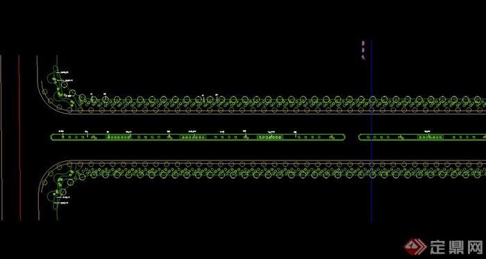 现代某段工艺设计绿化CAD平面图道路冲压垫圈模具设计图片