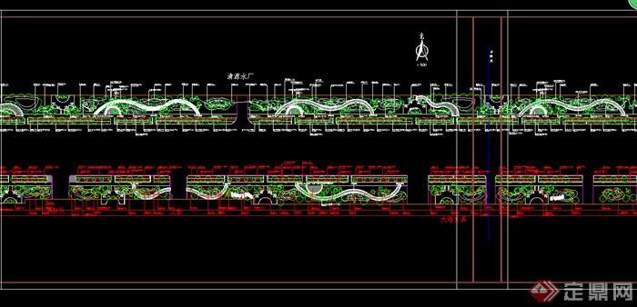 某园林道路绿化设计CAD图纸参考