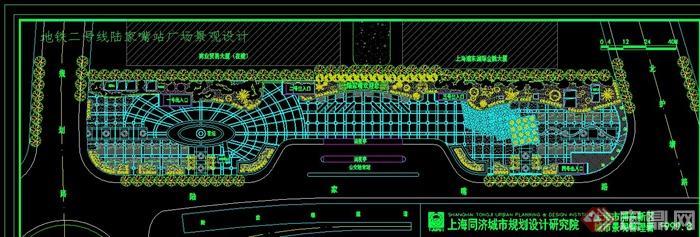 某廣場景觀設計cad平面圖