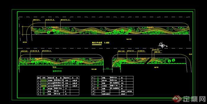 某园林道路绿化设计CAD图纸