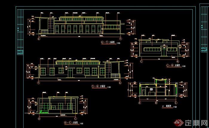 现代某校园实验室建筑设计cad施工图