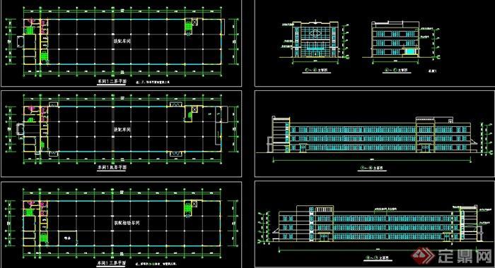 某工厂三层车间建筑设计图图片