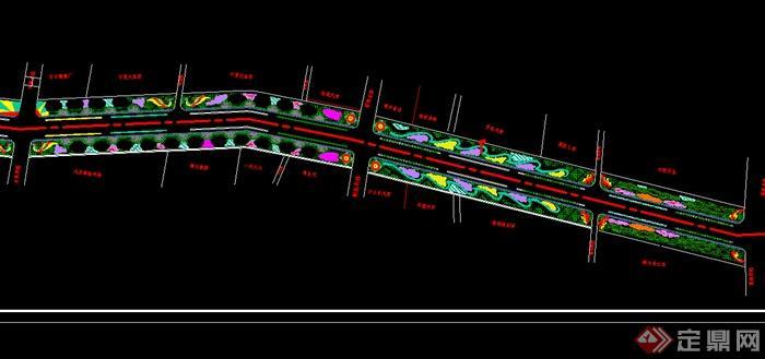 某个城市道路绿化景观设计CAD图纸