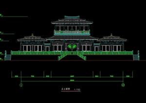 汉代庄王阁建筑设计cad方案图
