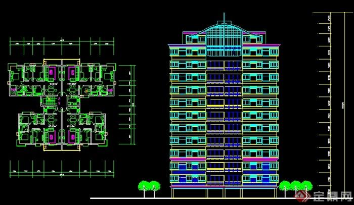 多栋图纸建筑设计cad住宅cadv图纸方案图片