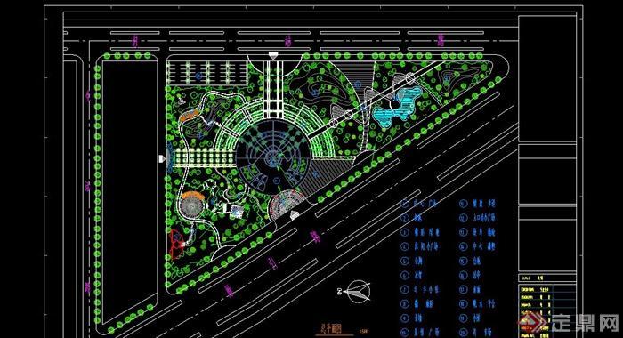 市小型休闲公园平面设计CAD图