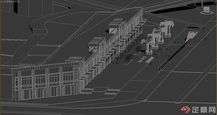 某商业街人行道景观设计3dmax模型