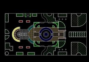 现代广场景观设计CAD平面图 -方案图DWG广场园林景观设计方案项目