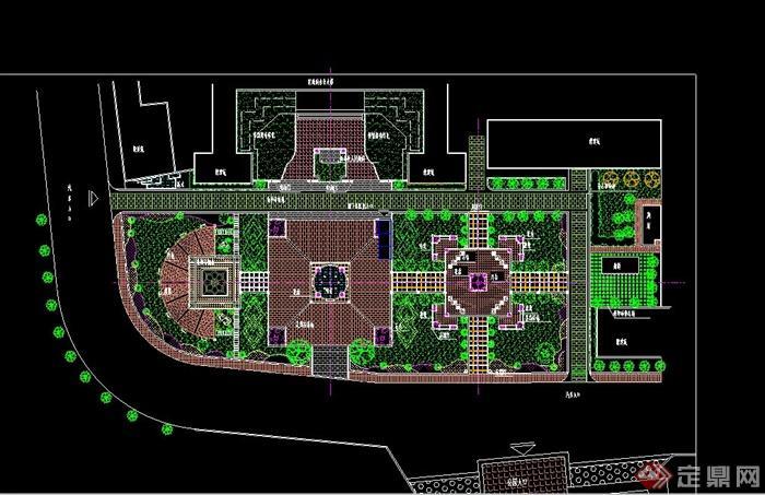 现代某后盖景观设计手机施工CAD平面图全套广场注塑模具设计轮文图片