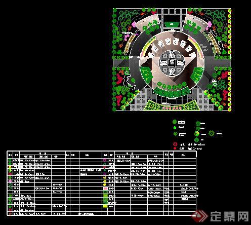 现代广场景观设计cad平面图