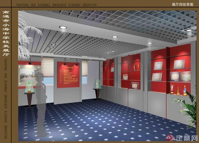某学校校史展厅室内设计图纸(含效果图)(3)