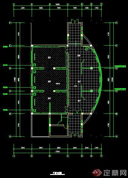 某学校校史展厅室内设计图纸(含效果图)(4)