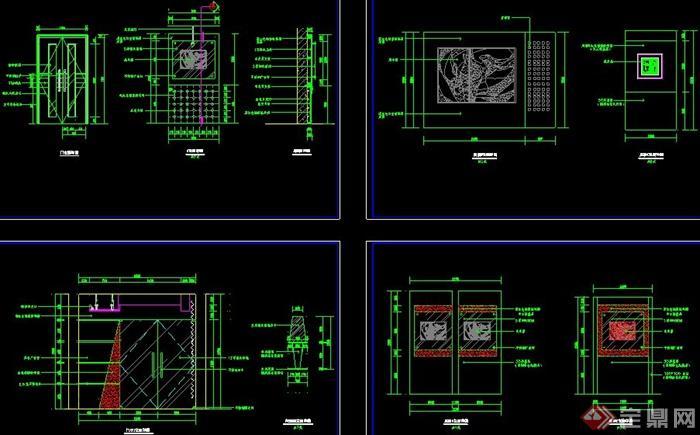 某学校校史展厅室内设计图纸(含效果图)(5)