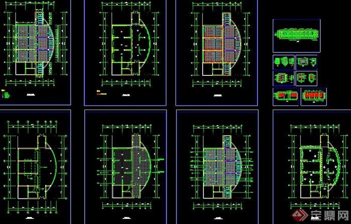 某学校校史展厅室内设计图纸(含效果图)(6)