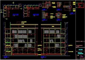 书柜详图cad -书柜设计素材下载图片