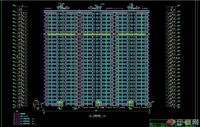 某框架结构高层住宅楼建筑施工图cad格式[原创]