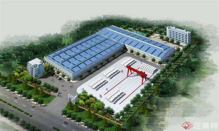 多款工厂钢结构工程建筑效果图JPG格式