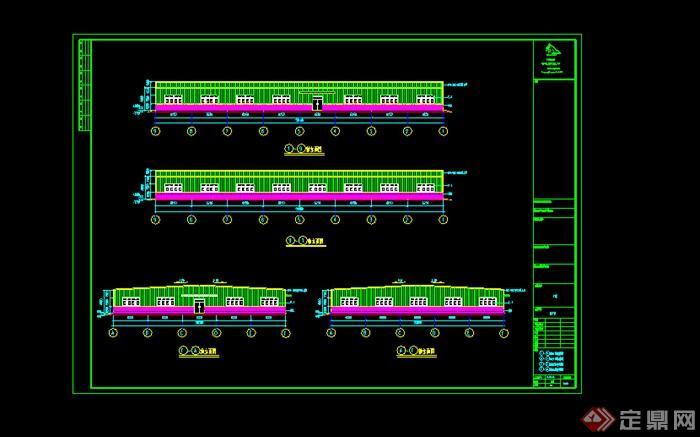 福建某钢结构厂房施工图设计CAD图纸