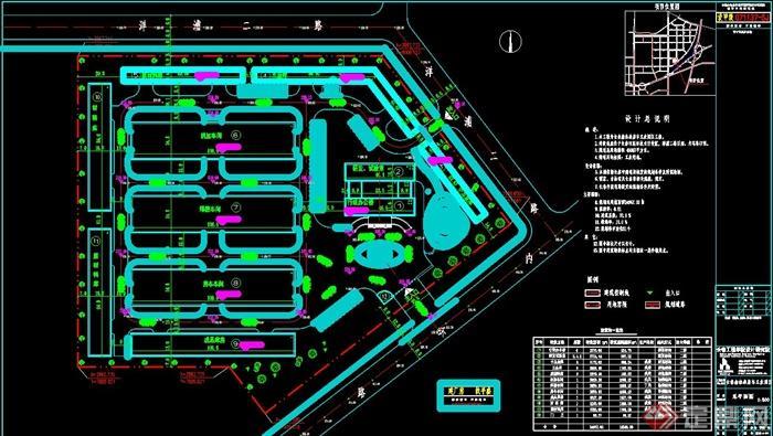 某工业园区规划设计总平面图