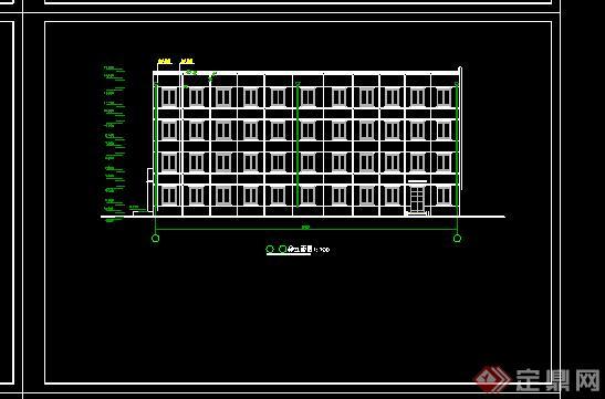 某监狱办公楼施工图设计CAD图纸
