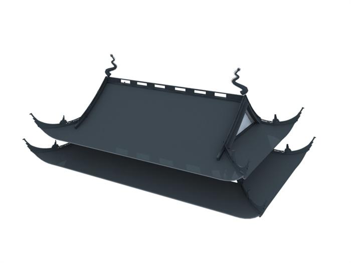 12款中式风格古建屋顶3dmax模型