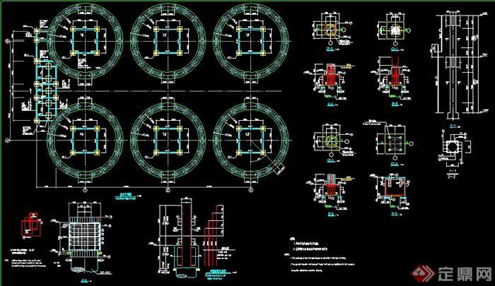 某水泥厂钢结构厂房全套建筑设计cad结构图