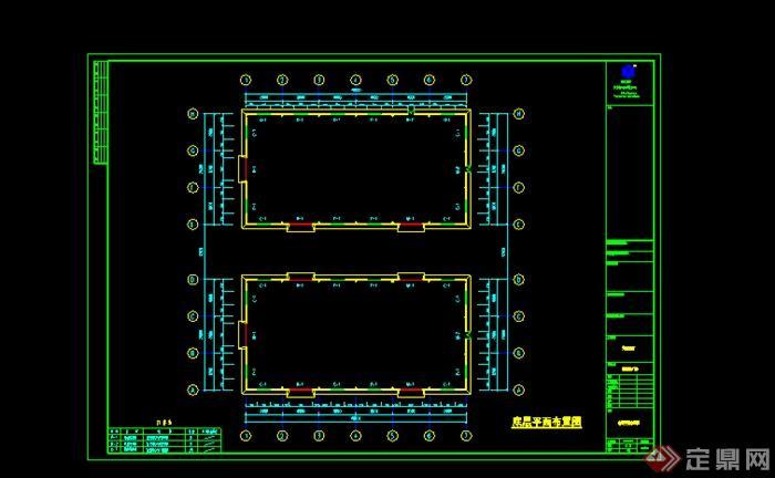 某钢结构厂房施工图设计CAD图纸素材