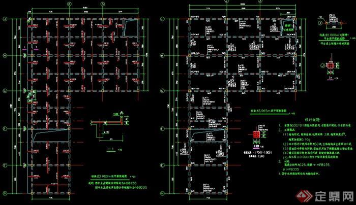 某汽车展厅建筑设计结构图纸