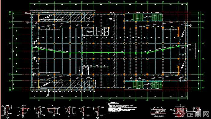 某三层报告厅建筑设计结构图纸