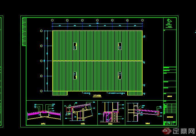 工业厂房施工图设计cad图纸