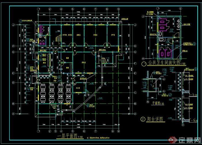 深圳某甲级卫院建筑设计建施图和结施图3dv甲级投石器图片