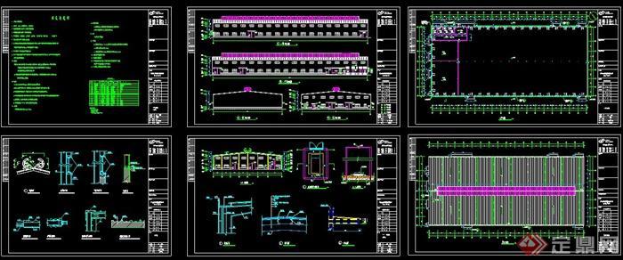 福建某公司细木工板车间建筑设计cad图