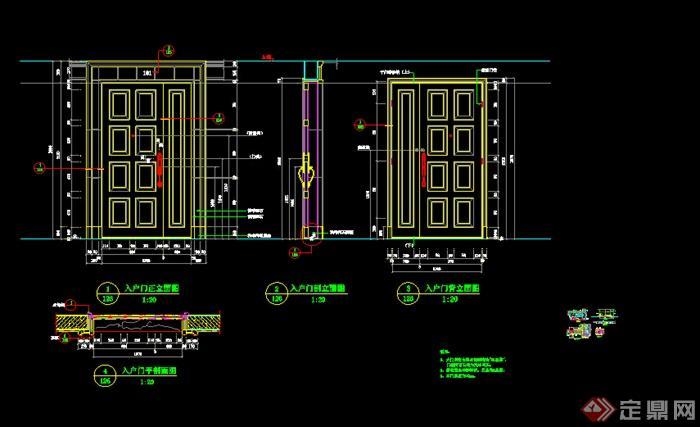某欧式别墅门窗节点施工图设计CAD图纸
