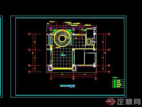 某室内居住客厅装饰施工图设计CAD图纸