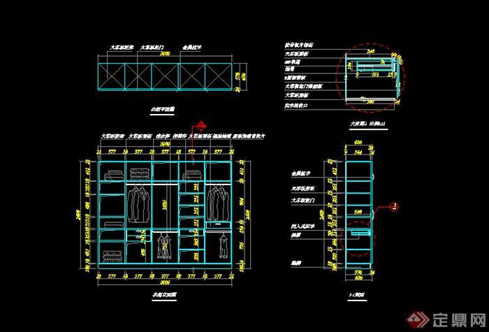 某衣柜设计CAD图纸参考