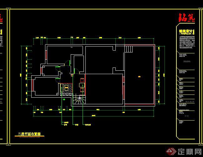 某室内住宅空间装修设计CAD图纸
