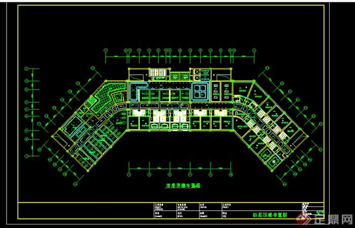 某酒店顶棚装饰设计CAD图纸