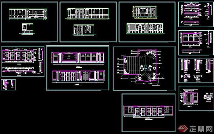 馆室内装饰设计CAD图图片