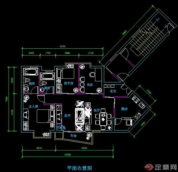 某三室两厅住宅家装设计图