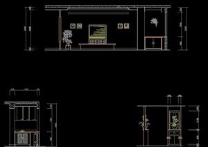 某住宅空间客厅室内设计立面图
