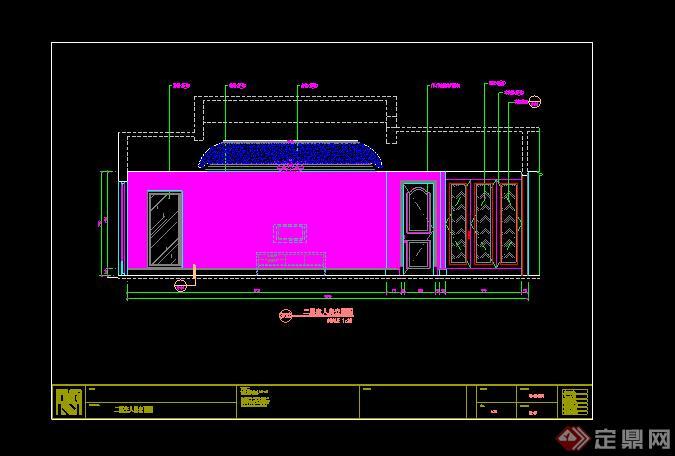 某别墅房间立面图设计CAD图纸参考图片