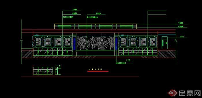 某办公楼全套装修设计CAD图