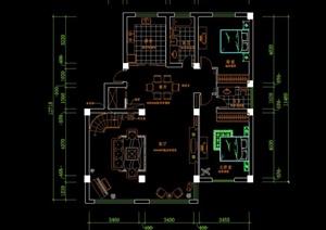 某复式楼住宅装修设计施工图图片