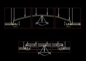 某住宅空间标准天花设计CAD大样图